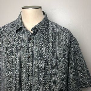 Other - Vintage Abstract Pattern 90s Style Button Down